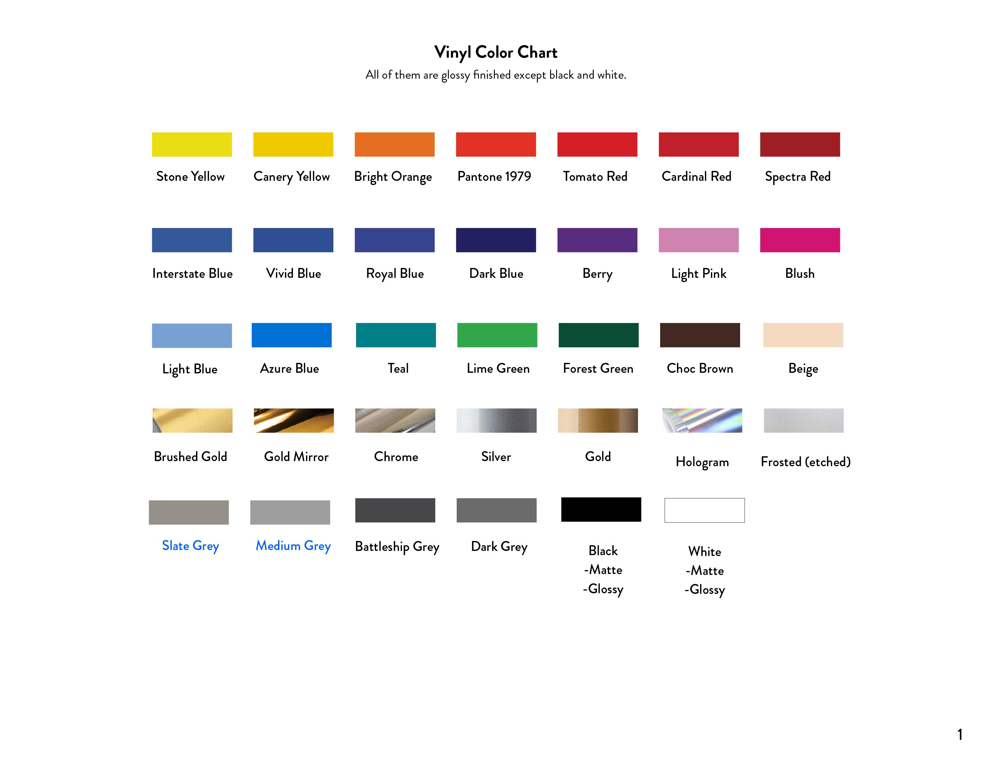 Color Chart_Vinyl