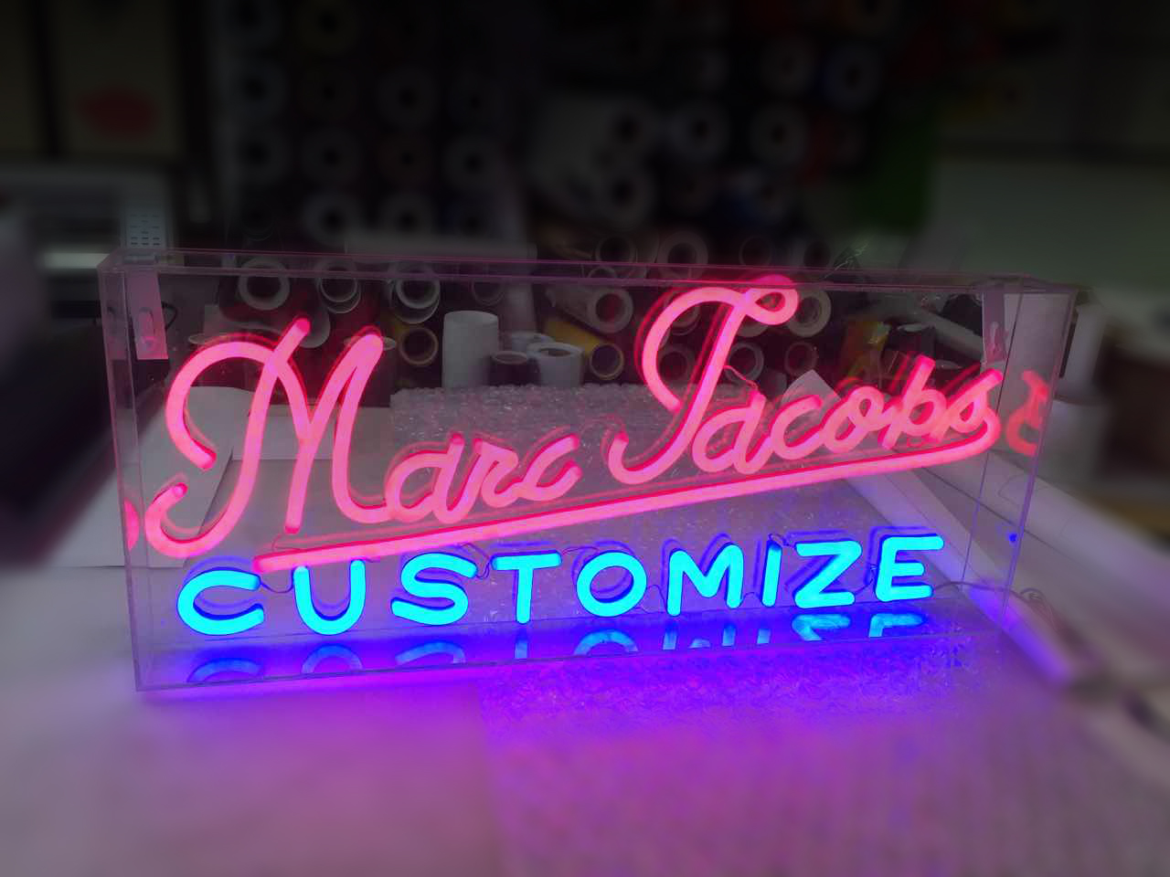 neon sign for business
