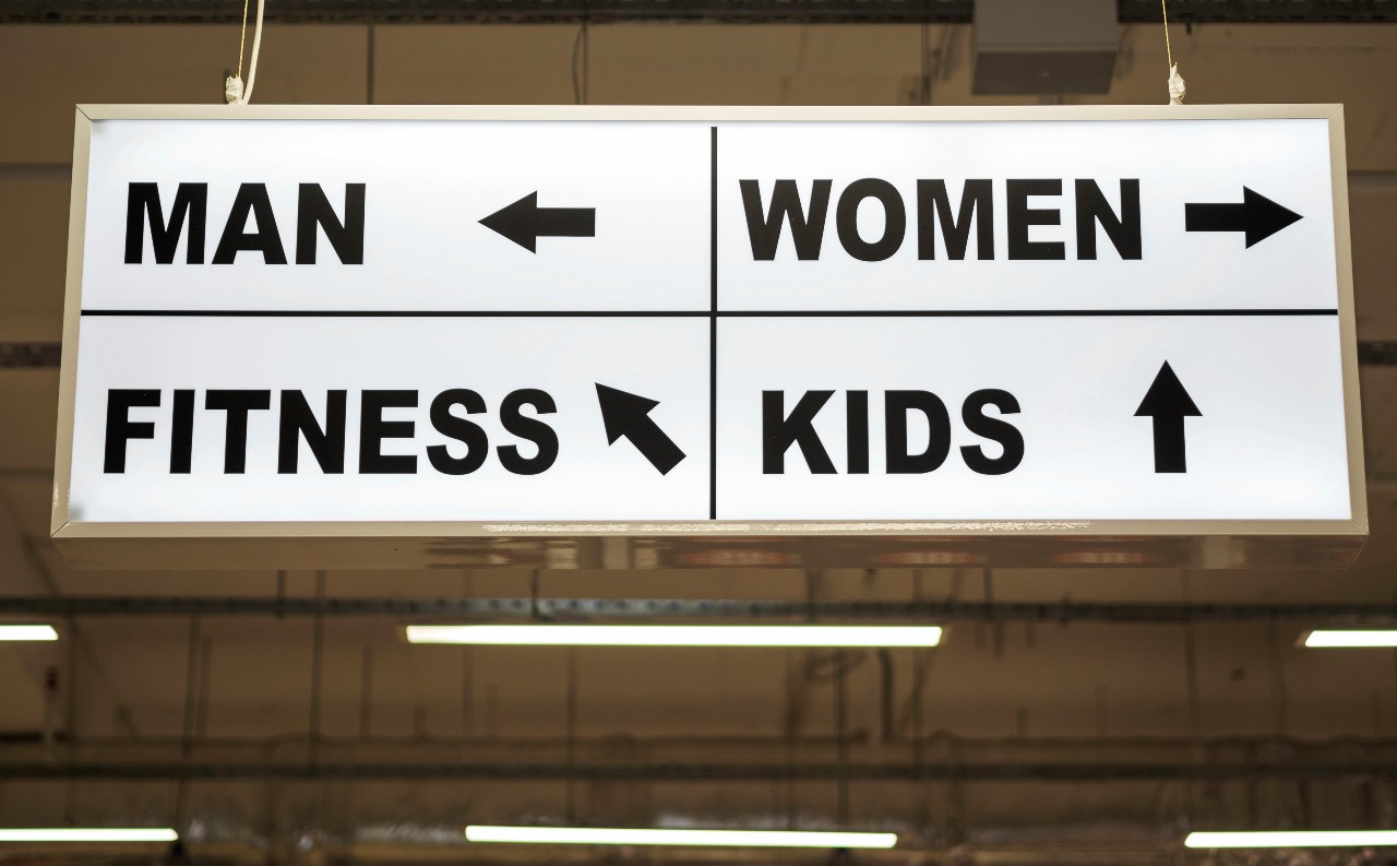wayfinding signs that are seen in public places